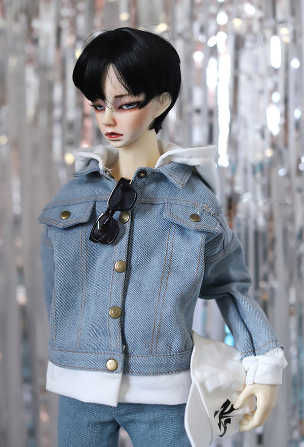 Doll clothes coat casual Jean jacket jointed Hoody for 1/3 1/4 BJD DD SD MSD SD17 Uncle doll size doll clothes accessories stenzhornbjd doll sd doll 1 4 doll kid delf girl coco dd msd toy
