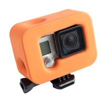 WLJIAYANG Caso Protetora Laranja Floaty Para GoPro Hero 4 3 + Camera Capa Casaco Protetor GoPros Heros 4 Acessórios
