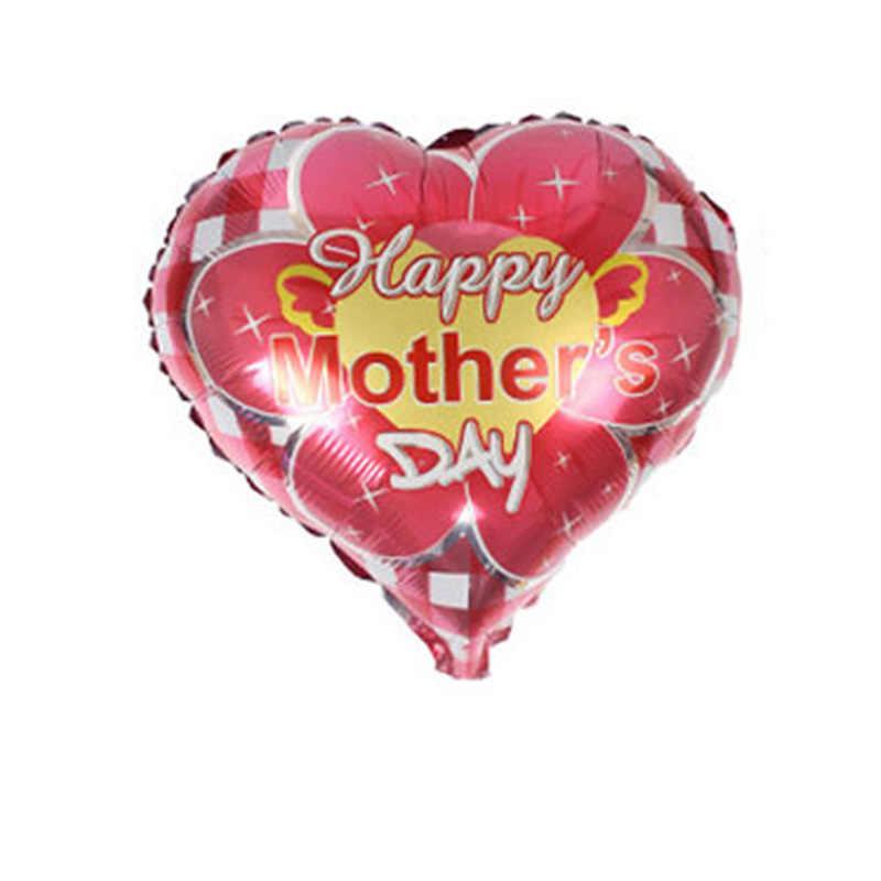 JFพ่อและแม่หัวใจรักรูปร่างMamaลูกโป่งวันแม่มีความสุขอลูมิเนียมฟอยล์บอลลูนแม่เทศกาลg lobosลูกโป่ง