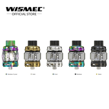 [Official store] Wismec TROUGH Tank 6.5ml Electronic Cigarette Atomizer with WT01/WT02/WT03 Coil For 510 Box vape MOD original electronic cigarette 240w vaptio n1 pro tc box mod vaping mod support vw 18650 battery fits 510 thread tank atomizer