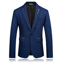 2018 Spring Autumn Business Casual Blazer Suit Jacket Wedding groom Slim Fit Men's Classic Smart Casual Blazer For Male