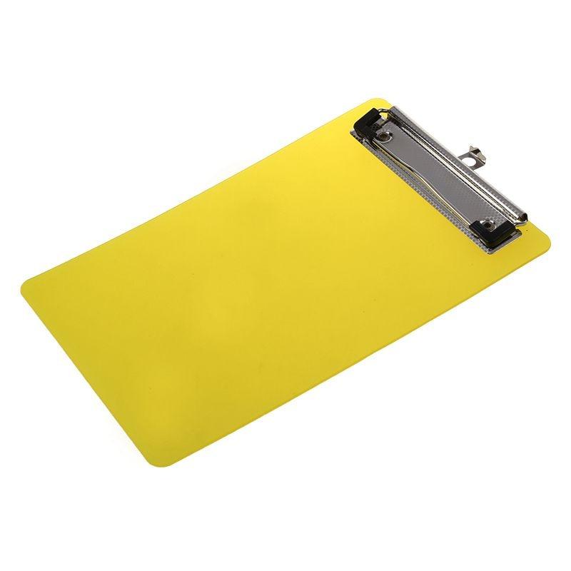 Plastic A6 Clipboard Folder With Lid Clipboard Orange