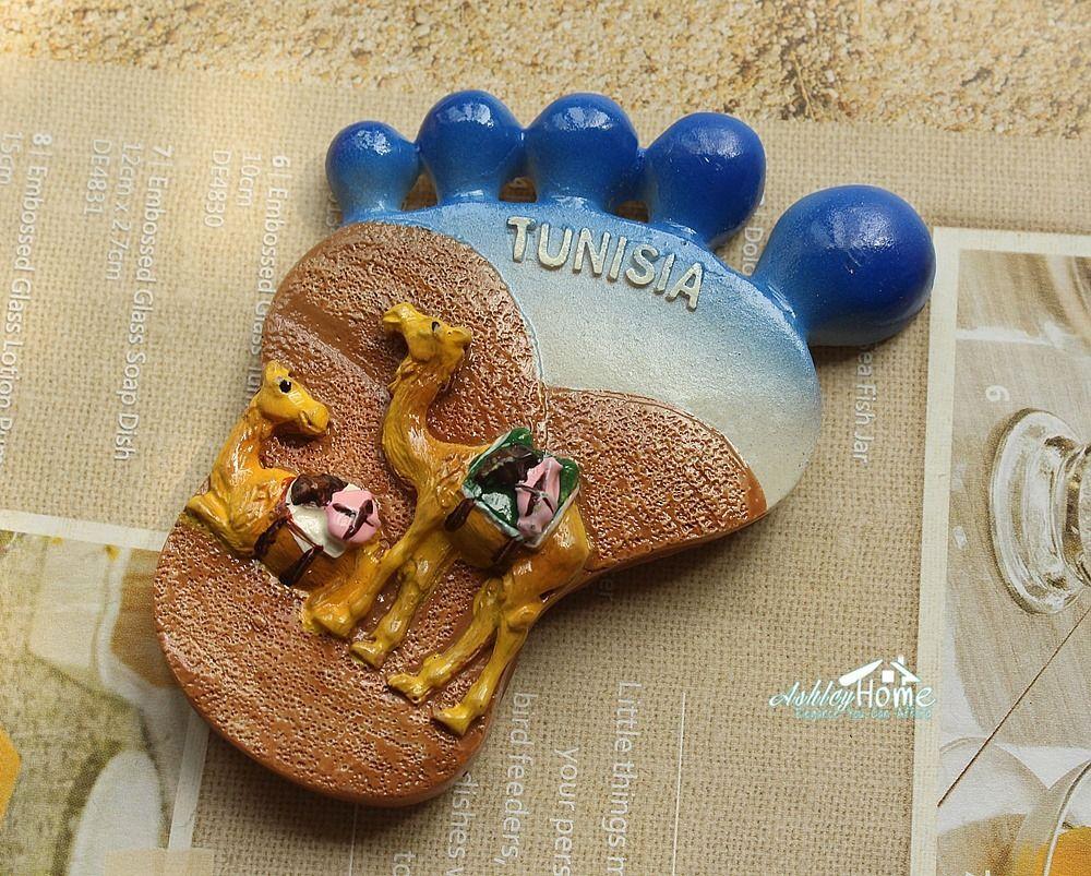 La tunisie Sahara Désert Chameaux Souvenir 3D Réfrigérateur Aimant Drôle Pieds En Forme Artisanat CADEAU