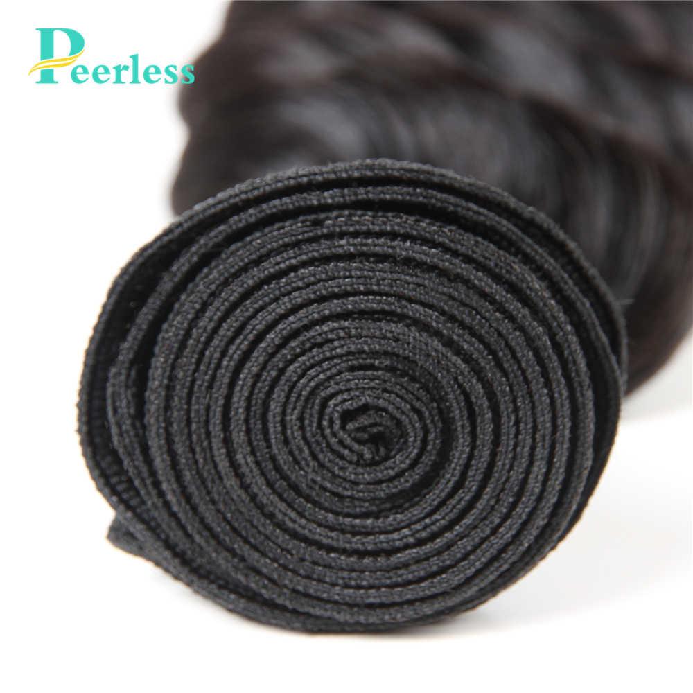 Необработанные бразильские волосы без косточек, глубокая волна, 4 пучка, человеческие волосы, плетение, натуральный цвет, бесплатная доставка