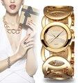 Weiqin marca de luxo relógios de ouro das mulheres de cristal moda pulseira de relógio de quartzo de choque à prova d' água relogio feminino orologio donna