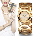 Weiqin marca relojes mujeres de moda de lujo cristalino del oro pulsera de reloj de cuarzo de choque a prueba de agua relogio feminino orologio donna