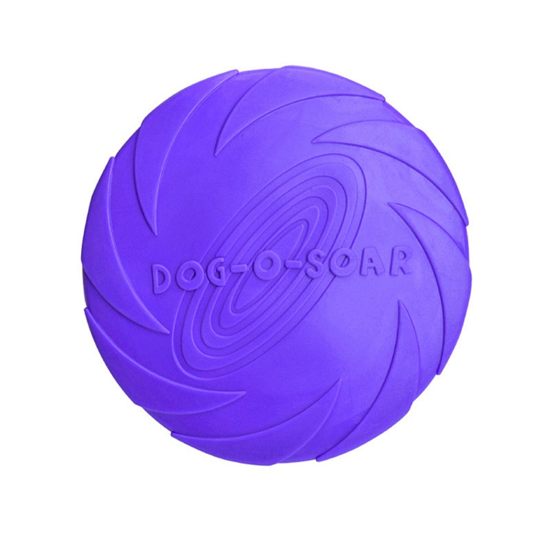 Funny Flying Flexible Disc Dog Toy Soft Tooth Resistant Toy For Dog Puppy Pets Training Toy Silicone Interactive Pet Supplies in Dog Toys from Home Garden