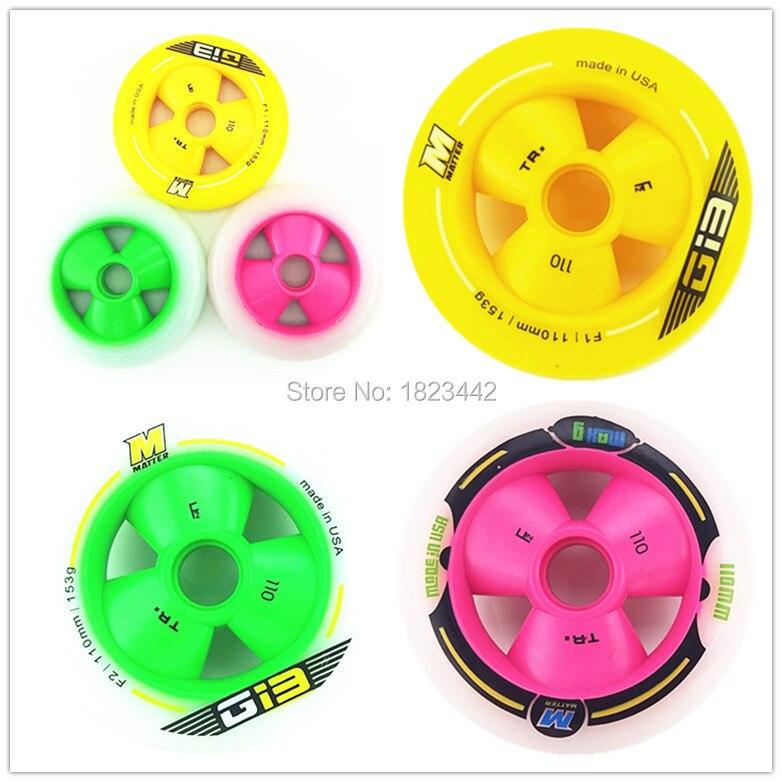 Shipping Time-1st,Mar. Matter G13 Wheels 90mm/100mm/110mm Speed Skating Wheels Inline Skate Wheels F2 Skate Wheel