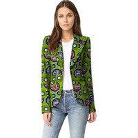 Elegant women casual balzer jackets african print fashion coats ladies casual dashiki coats of africa clothing