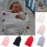 Newborn winter sleeping bag blanket wrapped baby cute sleeping bag