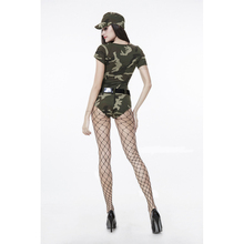 New Sexy Adult Women Army Uniform Costume Sexy Party Costumes Soldier Women Camouflage Color Masquerade Military Costume 71011