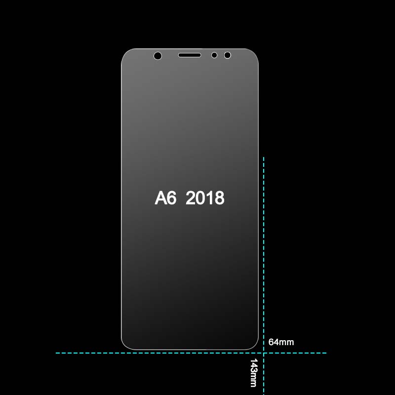 MRGO Tempered Glass For Samsung Galaxy A6 Plus 2018 Screen Protector 9H 2.5D Phone On Protective Glass For Samsung A6 2018 Glass