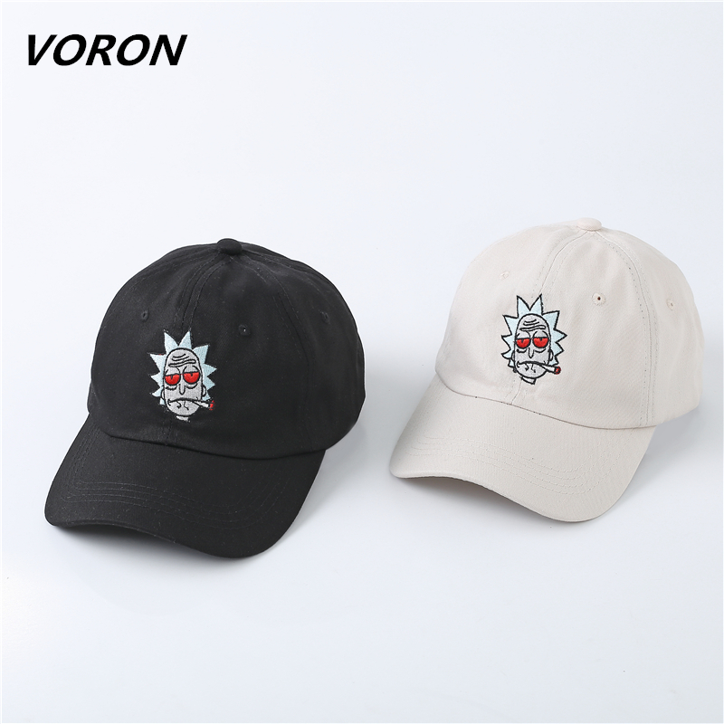 The New US Animation Rick Caps Dad Hat Rick and Morty Hats Adjustable Casquette High Quality Cotton Baseball Cap bone Snapback стоимость