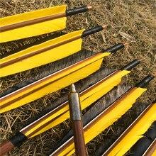 6/12/24 Pcs 32 Handmadeไม้ไผ่ลูกศรสำหรับRecurve Longbow Hunting Archery