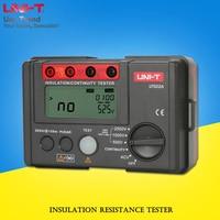 UNI T UT502A Insulation Resistance Tester; 2500V digital megohmmeter/AC voltage measurement/LCD backlight/automatic discharge