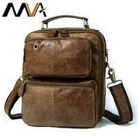 MVA Men's Genuine Leather Messenger Bag Men's Shoulder Bag Leather Vintage Men's Bags Man Handle top Crossbody Bags For Men 8951