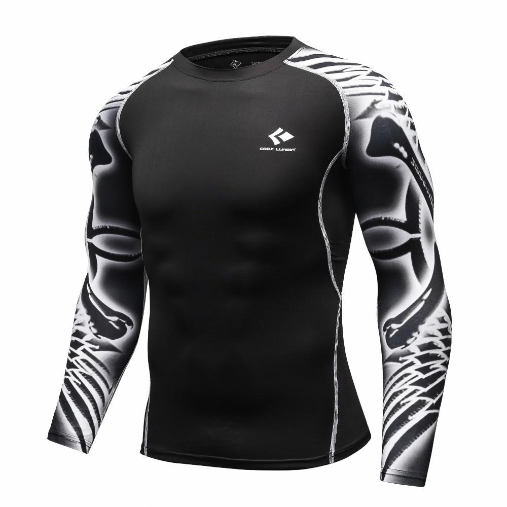Mens T Shirt Clothing Compression Shirt 3D Printing