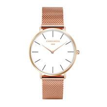 Chronos Мужская Мода кварцевые часы спортивные и на открытом воздухе многоцветный Для женщин Водонепроницаемый часы кожа пару часов Relogio Masculino