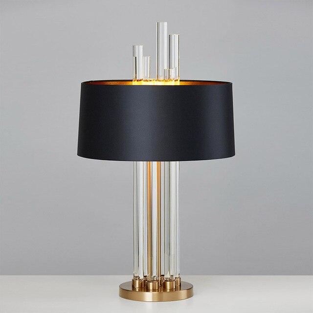 Modern Luxury Light Gl Designer Table Lamp Living Room Bedroom Bedside Fabric Lampshade Home Lighting Fixtrues E27 110 220v