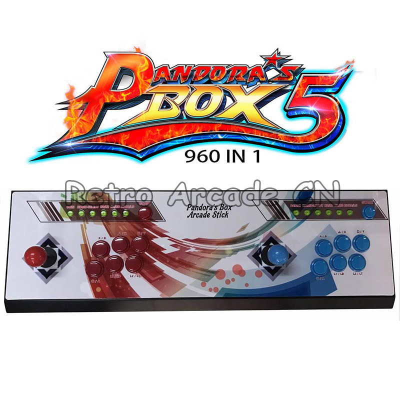 New Pandora box 5 960 in 1 arcade control kit joystick usb buttons zero delay 2 players HDMI VGA arcade console controller to TVNew Pandora box 5 960 in 1 arcade control kit joystick usb buttons zero delay 2 players HDMI VGA arcade console controller to TV