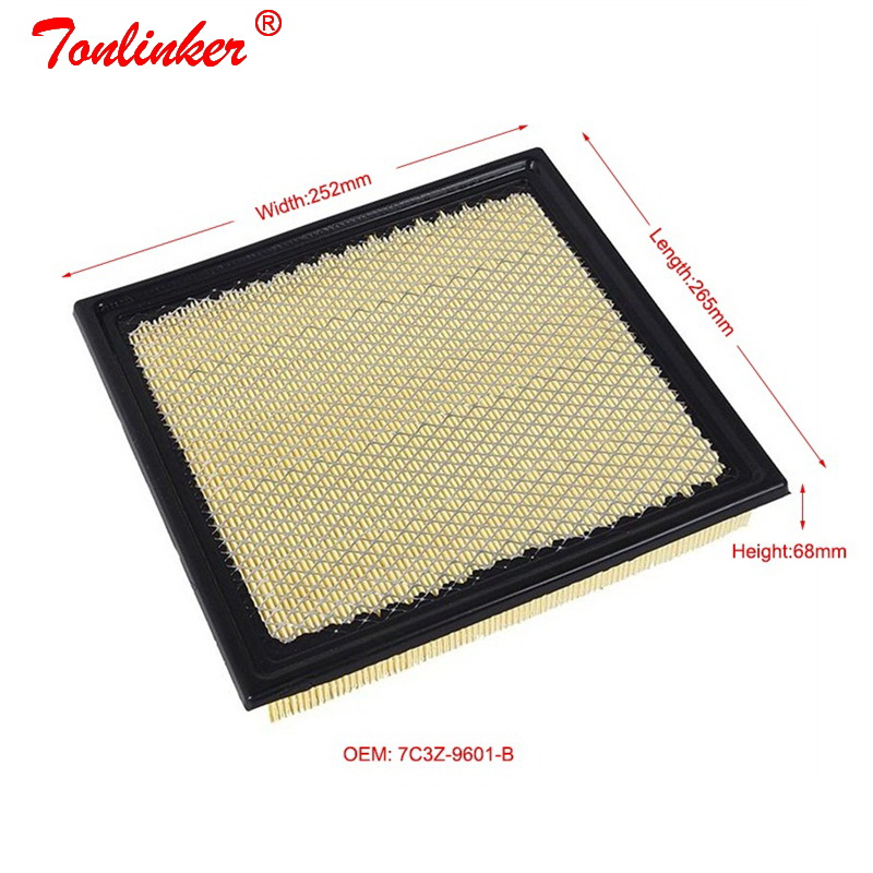 Image 2 - Air Filter Fit For Ford Expedition 5.4L 2010 2014 /F150 6.2L 2011 2014 3.5T 2015 Today 1Pcs Filter Car Accessories 7C3Z 9601A-in Air Filters from Automobiles & Motorcycles