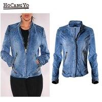 Women Denim Jacket Cotton Stretch Baseball Slim Short Denim Jackets Motor Chaqueta Jeans Coat Female Outwear Jackets Coats
