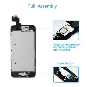 Image 3 - كامل الجمعية شاشة LCD لفون SE شاشة تعمل باللمس محول الأرقام لقطع غيار للشاشة SE فون كاملة زر المنزل
