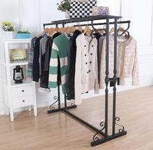 American restoring ancient ways, wrought iron boutique creative double row side hang clothes rack