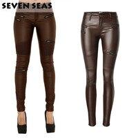 Fashion Plus Size Stretch Coating Faux Leather Pants Skinny High Waist Jeans Women Pantalon Cuero Mujer pantalon cuir femme