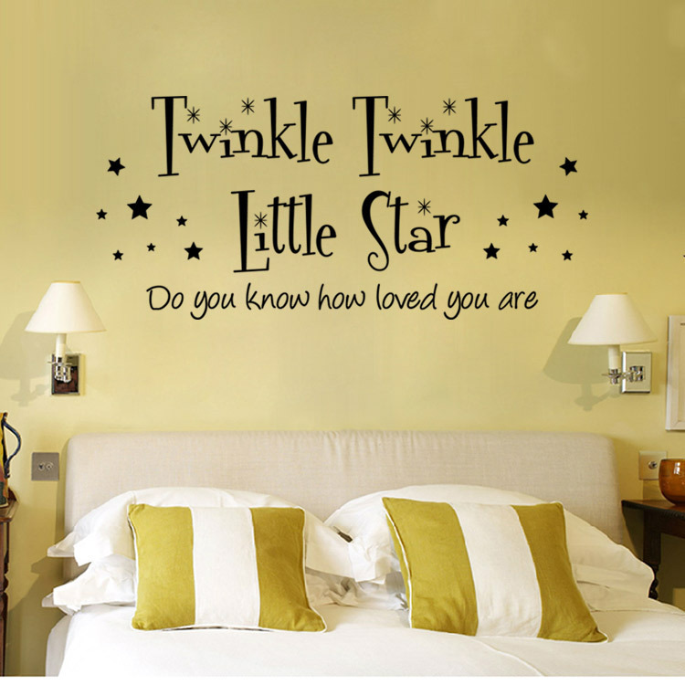 Twinkle Little Star Art Family home decor creative quote wall decals ...