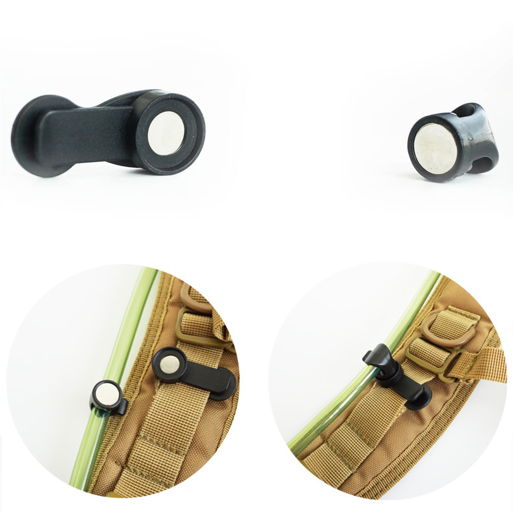 Drinking Tube Clip Rotatable Molle Hydration Bladder Drinking Tube Trap Hose Webbing Clip Molle Fits