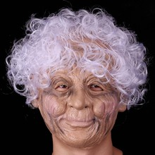 цены Silicone female mask old women silicone face mask party masquerade masks christmas full face human halloween masks
