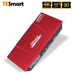 TESmart 1x2 HDMI 4K @ 60 Гц разветвитель HDMI Питание 1 в 2 из HDMI сплиттер двойной мониторы дублирование видео и аудио
