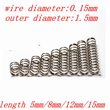 Low-Cost-Produkt 20 stücke drahtdurchmesser 0,15mm druckfeder ...
