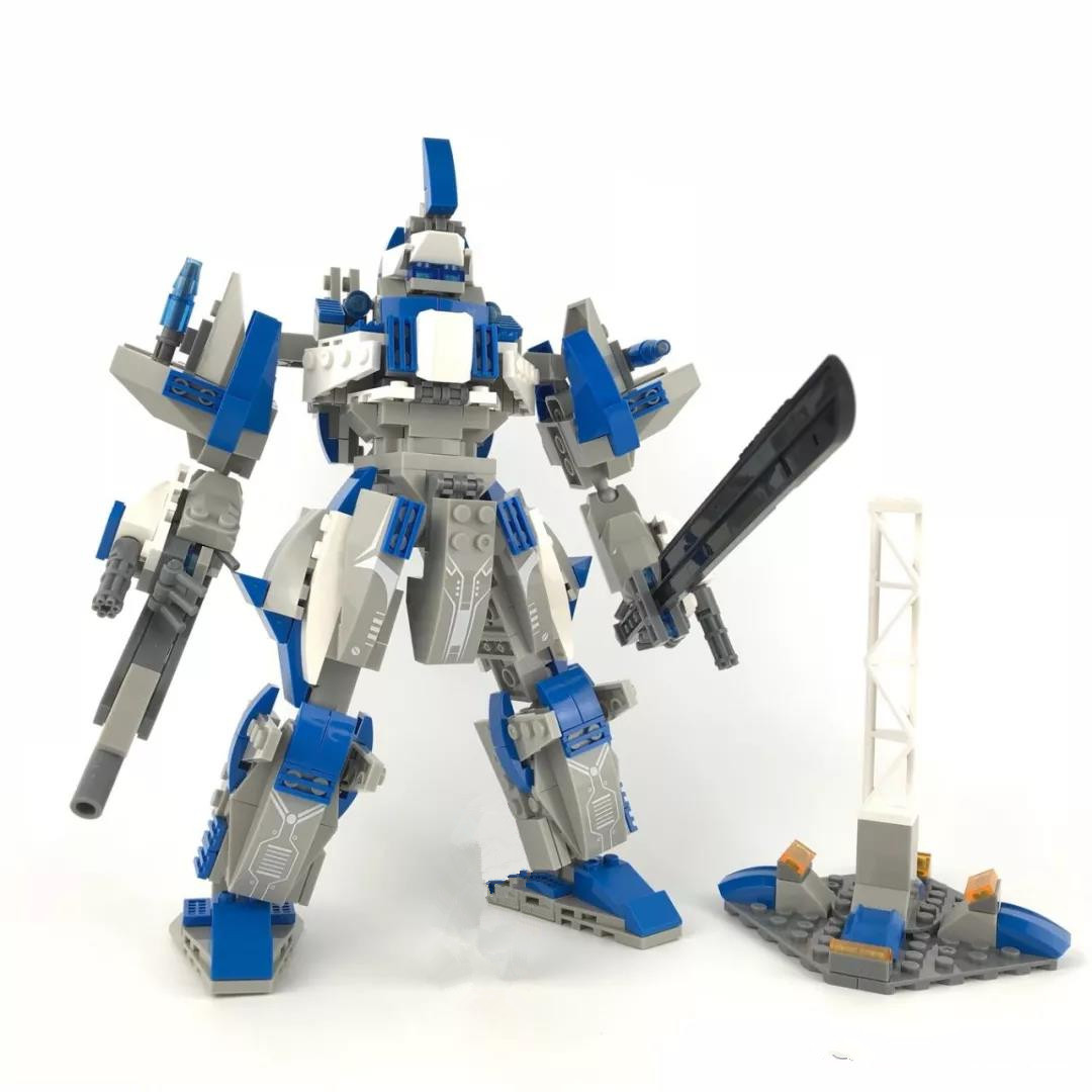 2018 NEW Mech League spell plug in building blocks animal animal robot children's educational toys Deep Sea God of War