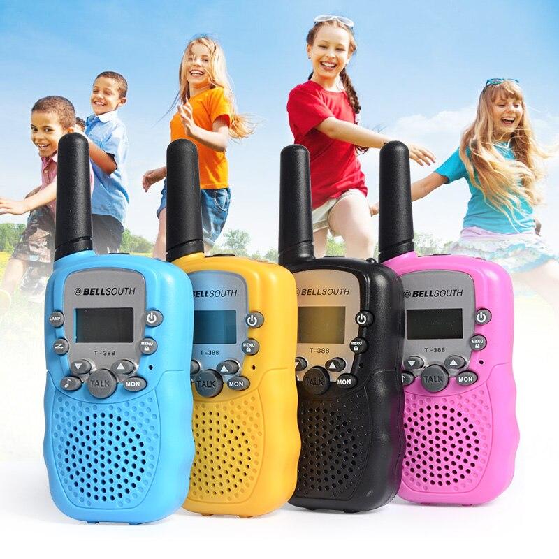 2Pcs Lot 0 5W Portable walkie talkie T 388 Blue Children kids Toy Small Mini UHF