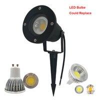 Бесплатная доставка свет сада GU10 светодиодная лампа газон MR16 Спайк прожектор водонепроницаемый газон света для наружного использования