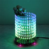 Colorful RGB Dream Light Circle 5mm LED DIY Kit Music Spectrum Module 8x32 Dot Matrix Electronic