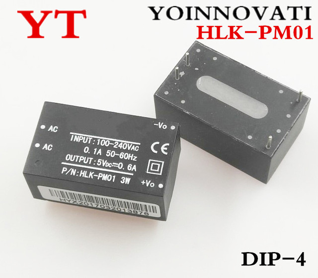 Free shipping 10pcs/lot AC-DC isolated power modules turn 220v 5v, switching step-down power module HLK-PM01 Best quality