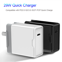 US Japan 29w PD Fast Charger for iPhone 8 Plus X Xr Xs iPad Macbook Air Quick Charging 3.0 USB Type C Huawei xiaomi Samsung