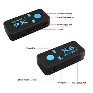 Image 5 - 3 en 1 sans fil Bluetooth adaptateur 4.0 USB Bluetooth récepteur 3.5mm Audio Jack TF lecteur de carte MIC appel Support pour voiture haut parleur
