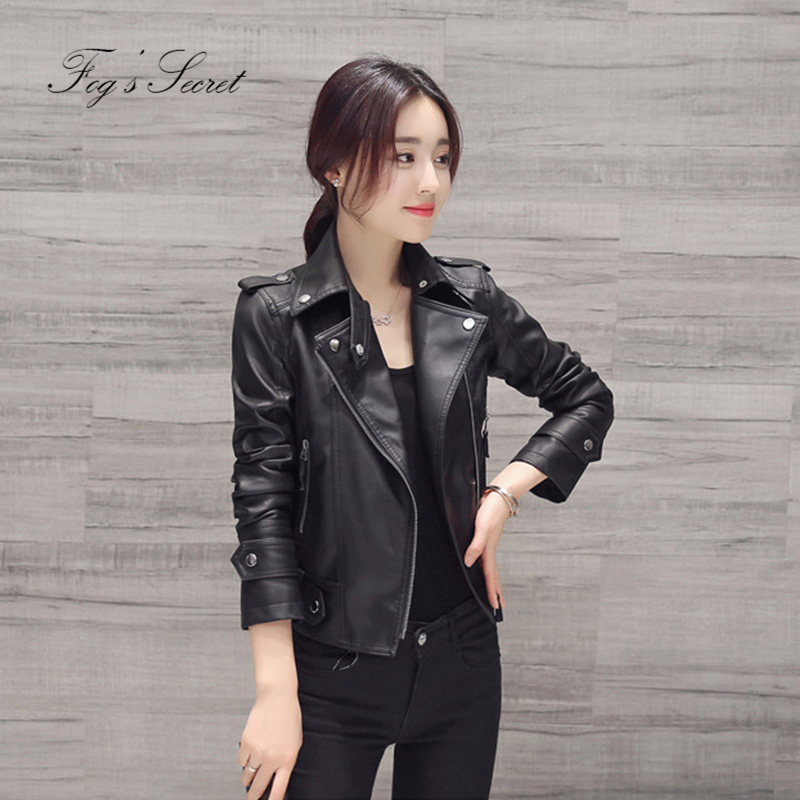 Plus Size Coats Slim Zipper Jacket For Women Clothers PU Leather Thick Warm Coats Cool Casual Outwear