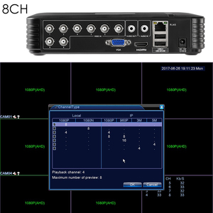 Image 5 - 4 Channel 8 Channel AHD DVR AHDH 1080P Security CCTV DVR 4CH 8CH Mini Hybrid HDMI DVR Support IP/Analog/AHD Camera 3G Wifi