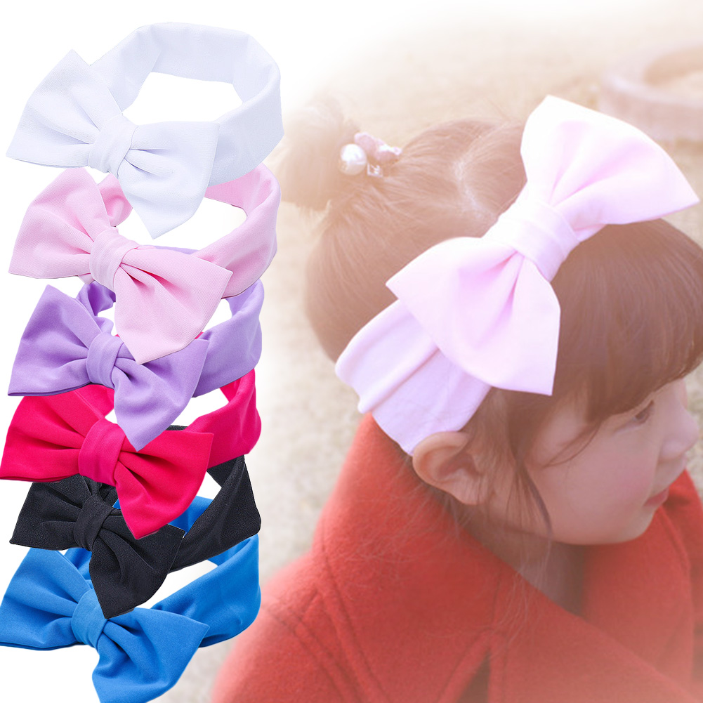 New Headbands Cute Baby Girls Toddler Newborn Big Headband Children Red Sweet   Headwear   Hair Bow Fashion Hair Accessories 2018