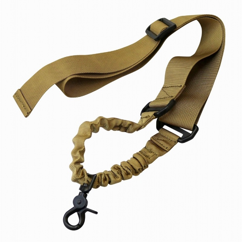Abay Military Airsoft Tactical Single Point Bungee Rifle Sling Gun Strap Belt Gun Rope Shooting Hunting Accessories