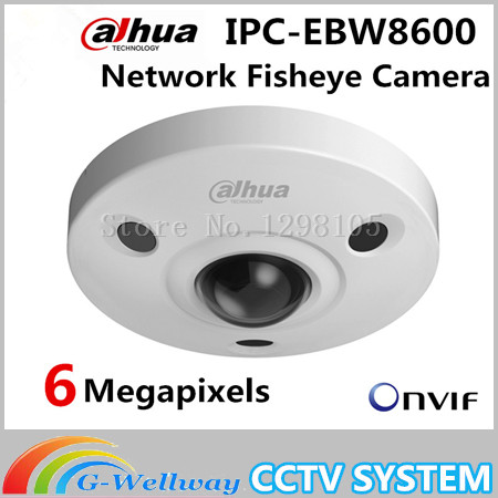 Original dahua 6M HD Vandal-proof IR Network Fisheye Camera IPC-EBW8600 SD card Mic built in CCTV IP camera IPC-EBW8600 dh ipc ebw8600 original dahua full hd panorama 360 degree ip camera 6mp fisheye dome network camera ipc ebw8600