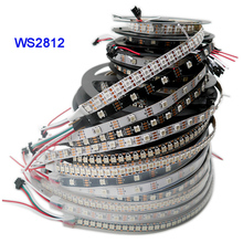 купить DC5V WS2812B 1m/3m/5m 30/60/74/96/144 pixels/leds/m Smart led pixel strip,Black/White PCB,WS2812 IC;WS2812B/M,IP30/IP65/IP67 по цене 135.47 рублей