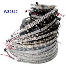 DC5V WS2812B 1m/3m/5m 30/60/74/96/144 pixels/leds/m Smart led pixel strip,Black/White PCB,WS2812 IC;WS2812B/M,IP30/IP65/IP67