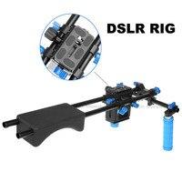 New Professional DSLR Rig Dual Handle Shoulder Mount Rig Video DV Accessories For Canon 5D2 5D3 7D 70D 60D 5D Mark III D810 D610