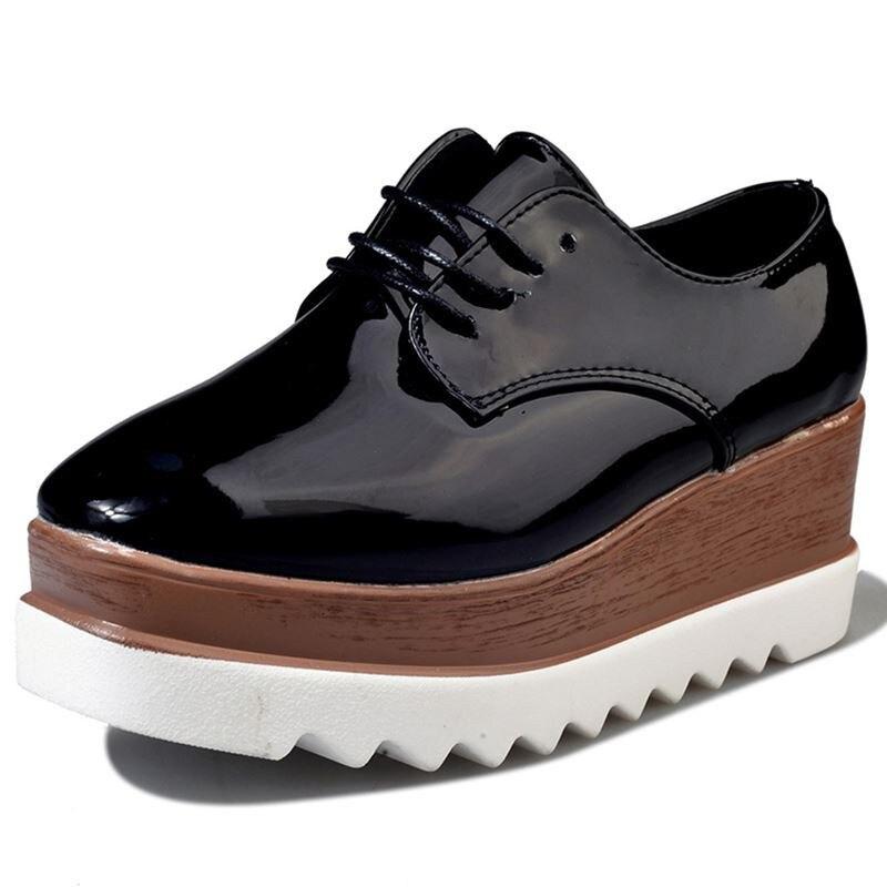 Dames Noires Des Croissante Plate 1 3 Plat 2 Chaussures Les Mode Femmes Appartements En Cuir Hauteur Souple Pour forme 2018 Marque qzP6xwZf